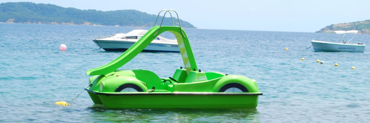 Pedalos for rent in Skiathos