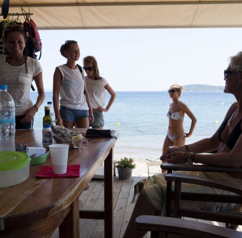 Stefanos Ski School , Our customers arrived for waterski lessons