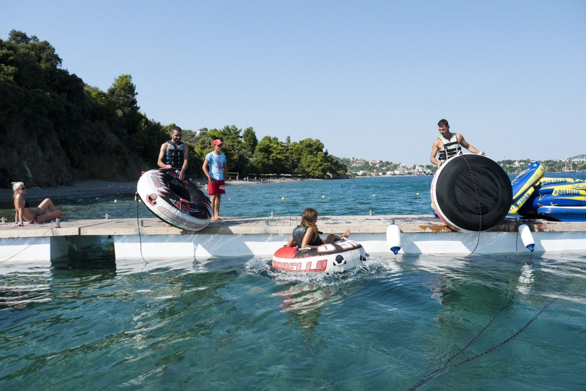 Ring rides,Tube rides in Skiathos at stefanos ski school