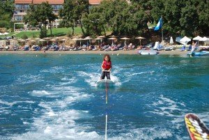 Baby learning board foe waterski