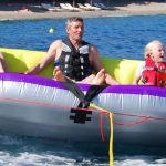 sofa rides in Skiathos at stefanos ski school