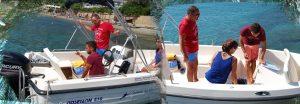 boat hire how at stefanos ski school
