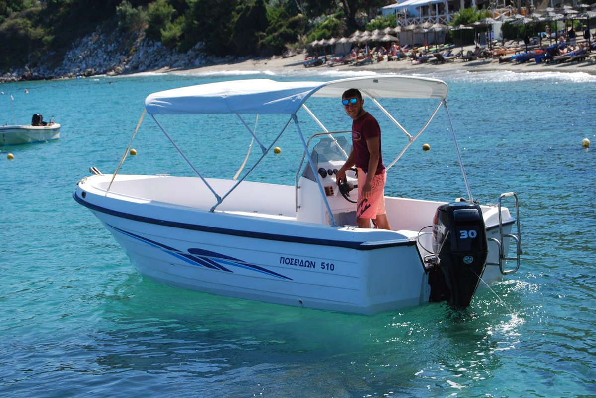 katerina Boat with the new engine