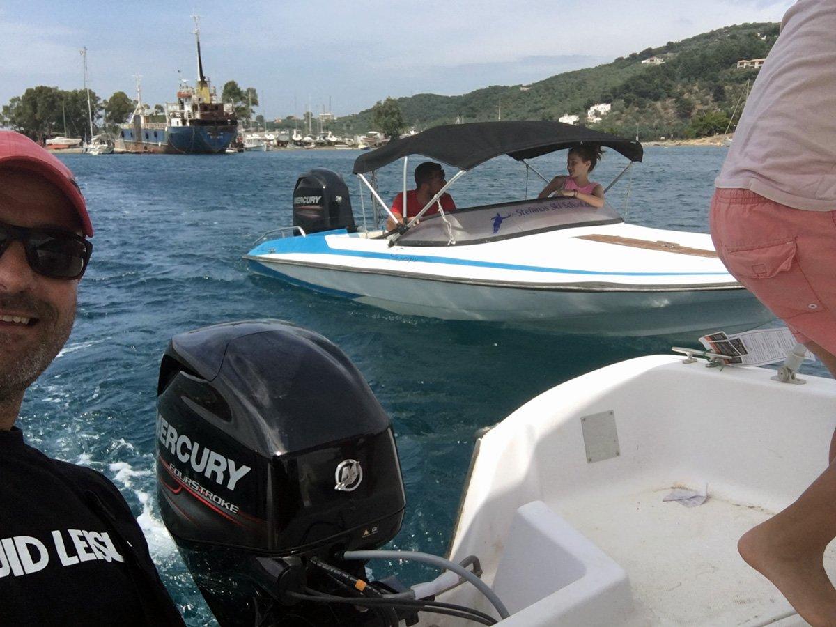 Picking up Katerina Boat