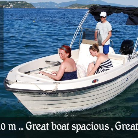 SKIATHOS BOAT HIRE Giannis Boat , Great for families to rent