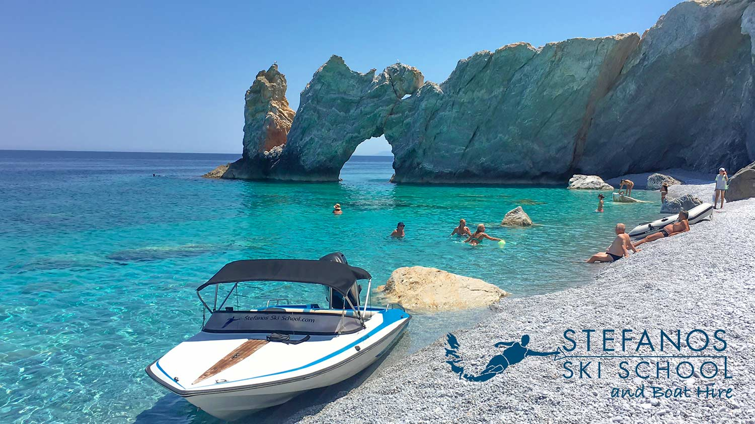 Lalaria Beach, Boat Trips with Stefanos @ Stefanos Ski School& Boat Hire