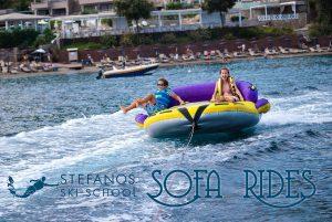 Sofa rides in Skiathos