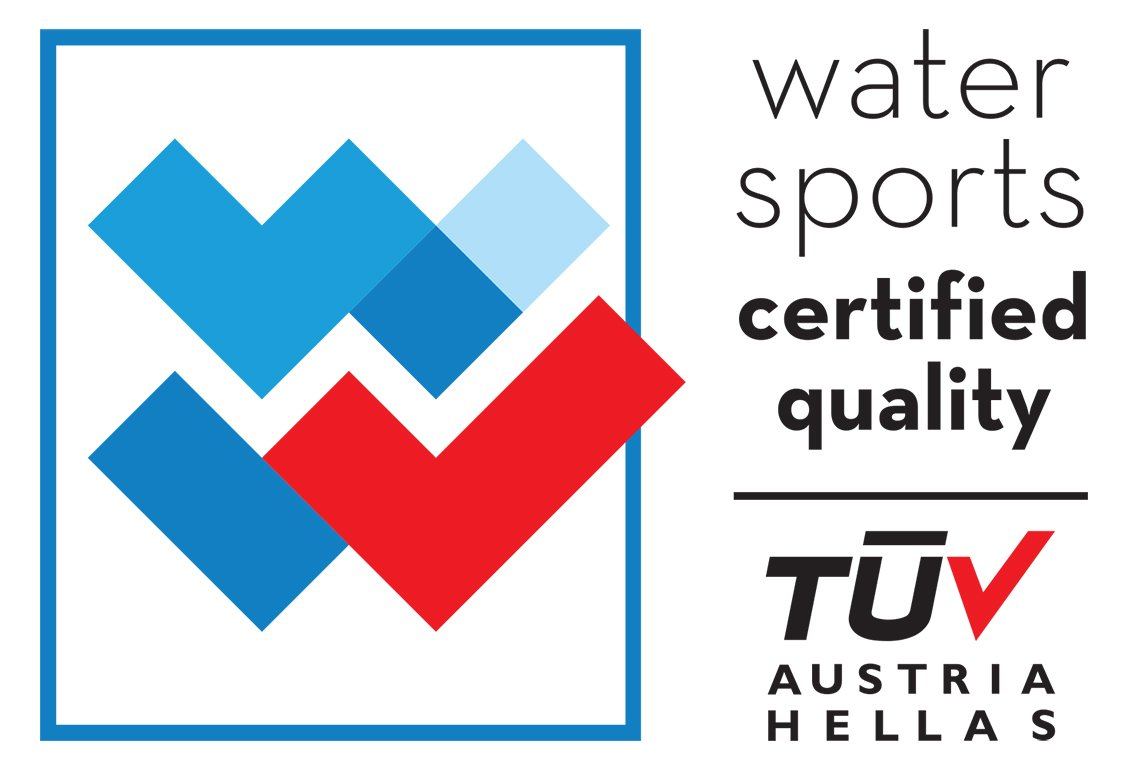 TUV watersports certified quality skiathos