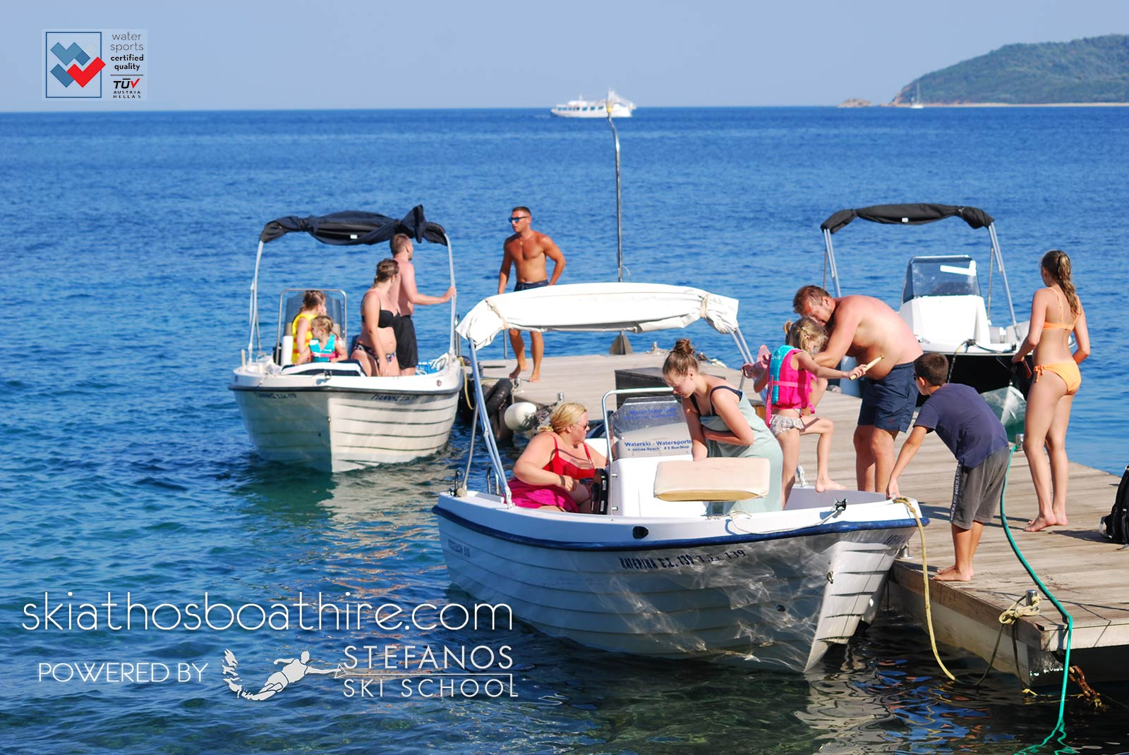 boat rental services in skiathos