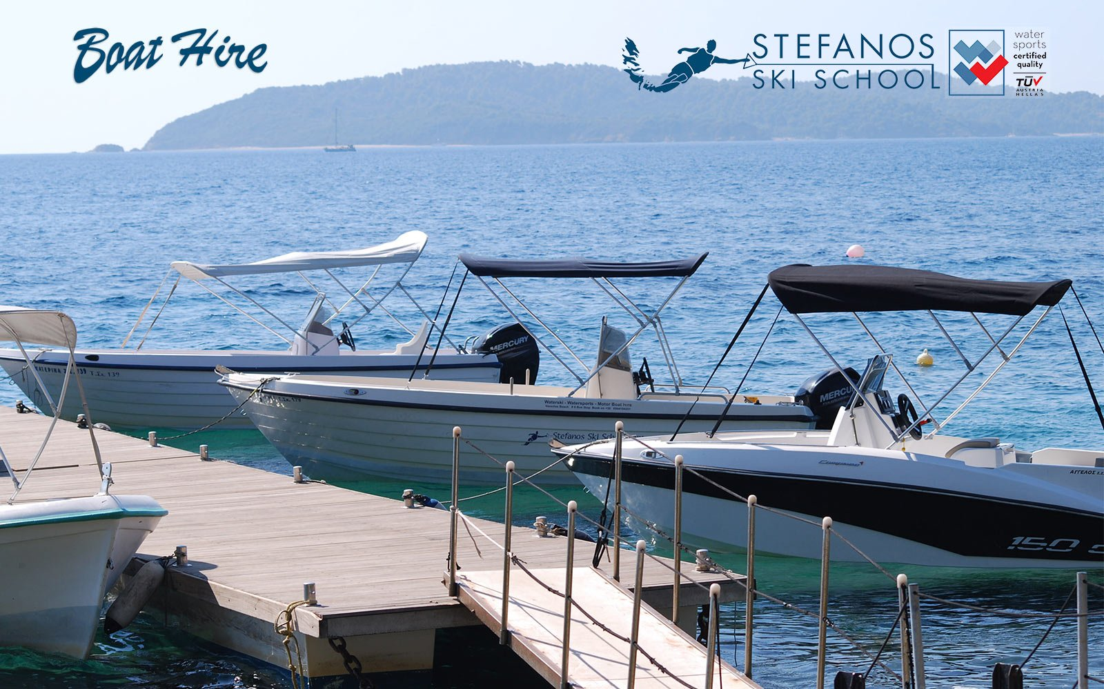Skiathos boats for rent , ready to go in our Platform