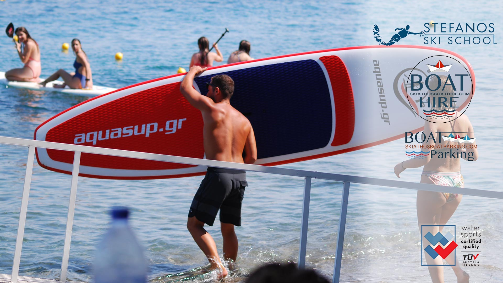 Stand Up Paddles S.U.P Exclusive offers for families 4 Stefanos Ski School & Boat rental