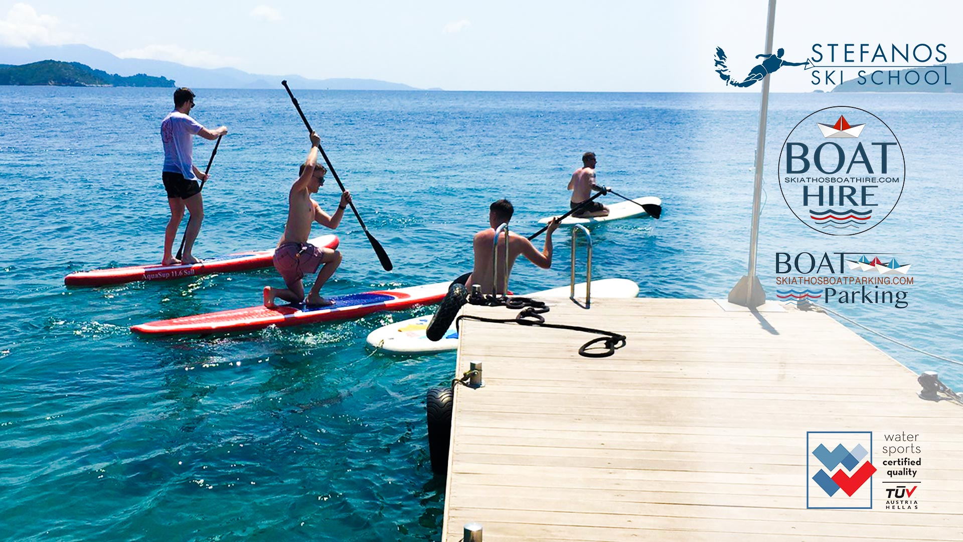 Stand Up Paddles S.U.P Exclusive offers for families 2 Stefanos Ski School & Boat rental