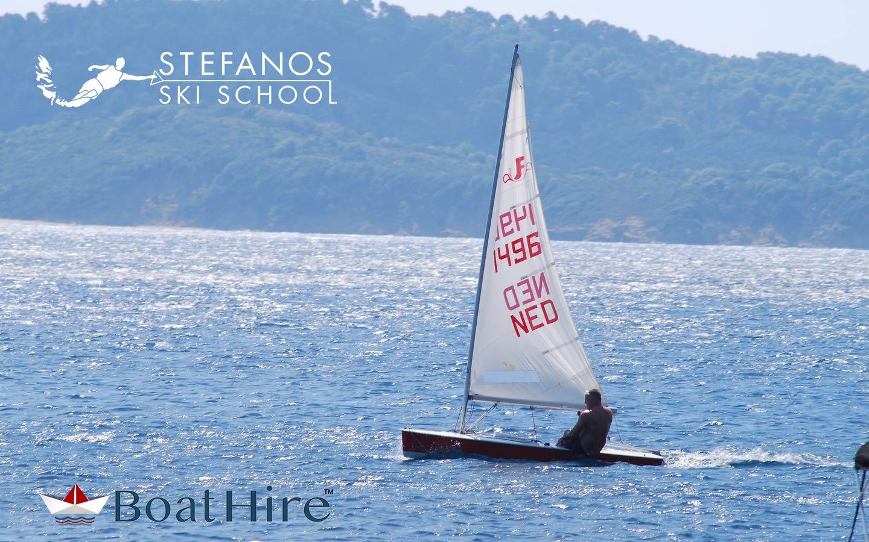 skiathos sailing, Laser boat for rnet